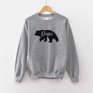 Papa Bear Oversized Sweatshirt• Made to order